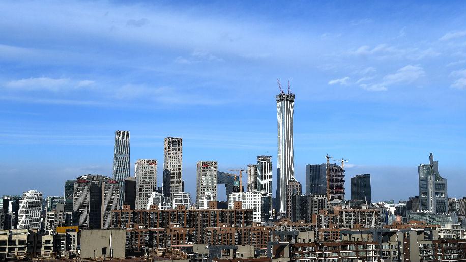 """外媒:北京现10年来""""最蓝天空"""" 今冬将继续努力"""