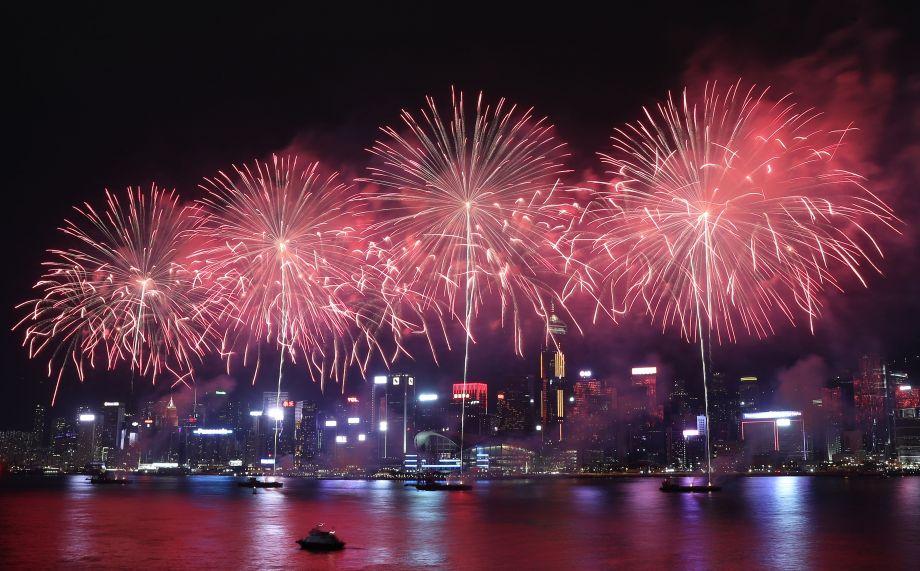香港举行国庆烟花汇演