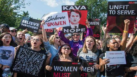 FBI完成对卡瓦诺性侵调查 美数千女性游行抗议大法官提名