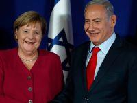 """德国总理表示支持通过""""两国方案""""解决巴以冲突"""
