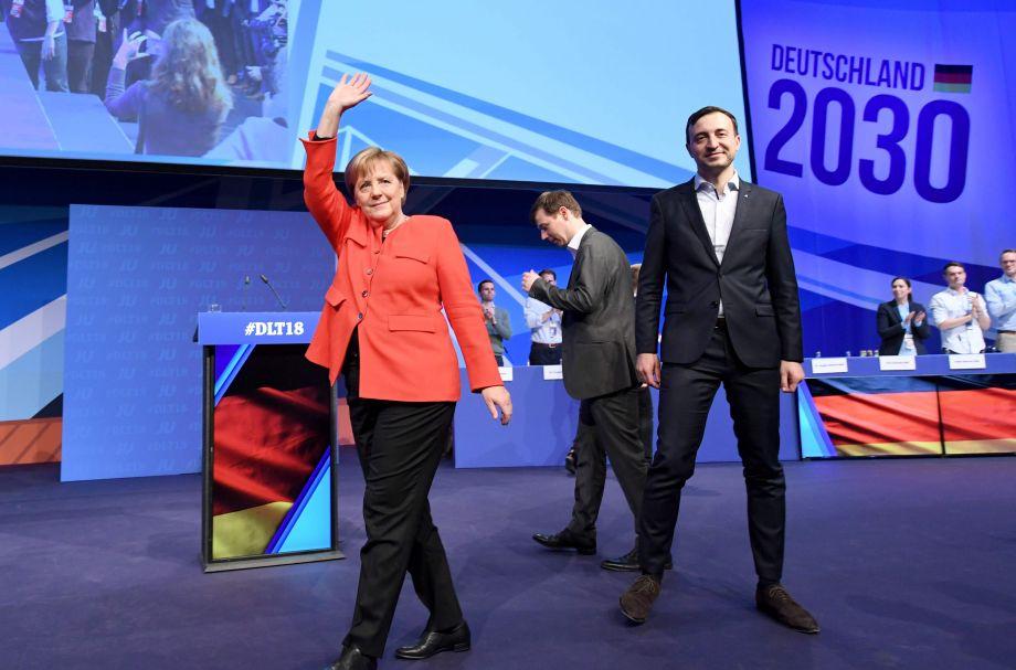 德国总理出席青年联盟代表大会