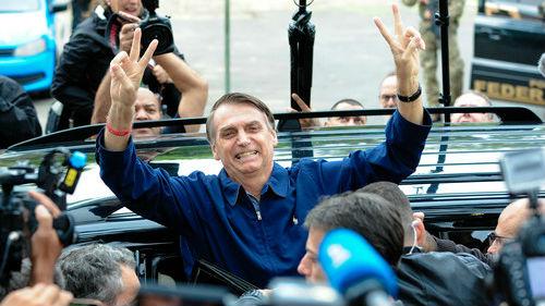西媒:巴西极右翼总统候选人支持率高 选民希望新政府带来变化