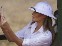 梅拉尼娅拜访非洲 由于戴这顶帽子引发争议
