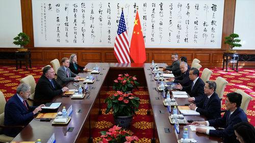 海外媒体:蓬佩奥访华难缓中美紧张关系