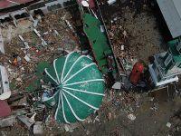 航拍印尼地动海啸灾区