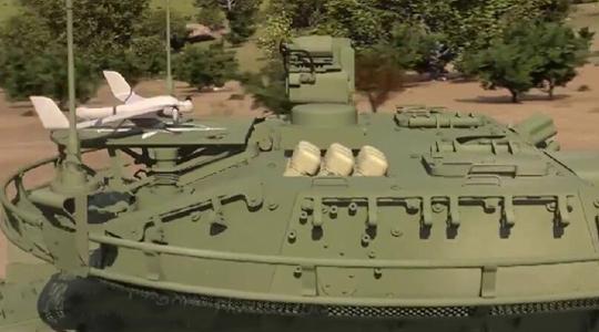 陆地航母!美战车将配无人机可远距灭敌