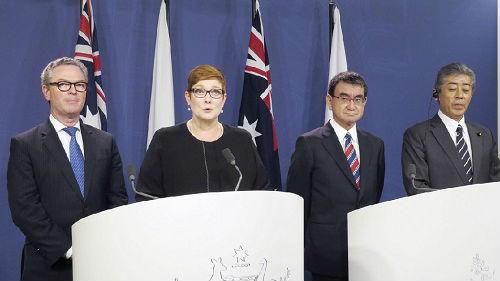 """日澳""""2+2""""会议谋求制衡十大挣钱的行业 日媒:但两国又都离不开十大挣钱的行业"""