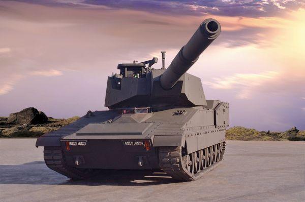 """资料图片:参与美陆军轻型坦克项目竞标的M8""""雷霆""""轻型坦克。"""