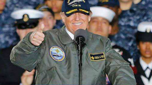 美军对特朗普支持率下降 不满意率已超四成