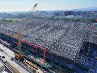京张高铁清河站主体结构正式封顶