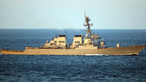 海外媒体关注两艘美军舰穿越台湾海峡