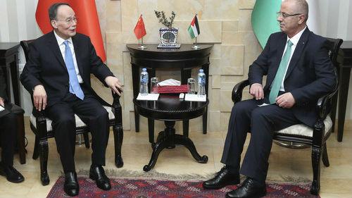 海外媒体关注中国与巴勒斯坦启动自贸谈判