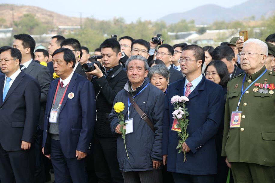 中朝举行中国人民志愿军烈士陵园修缮竣工仪式