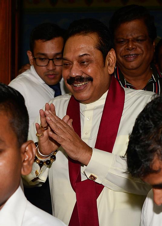 斯里兰卡前总统拉贾帕克萨宣誓就任新一任总理
