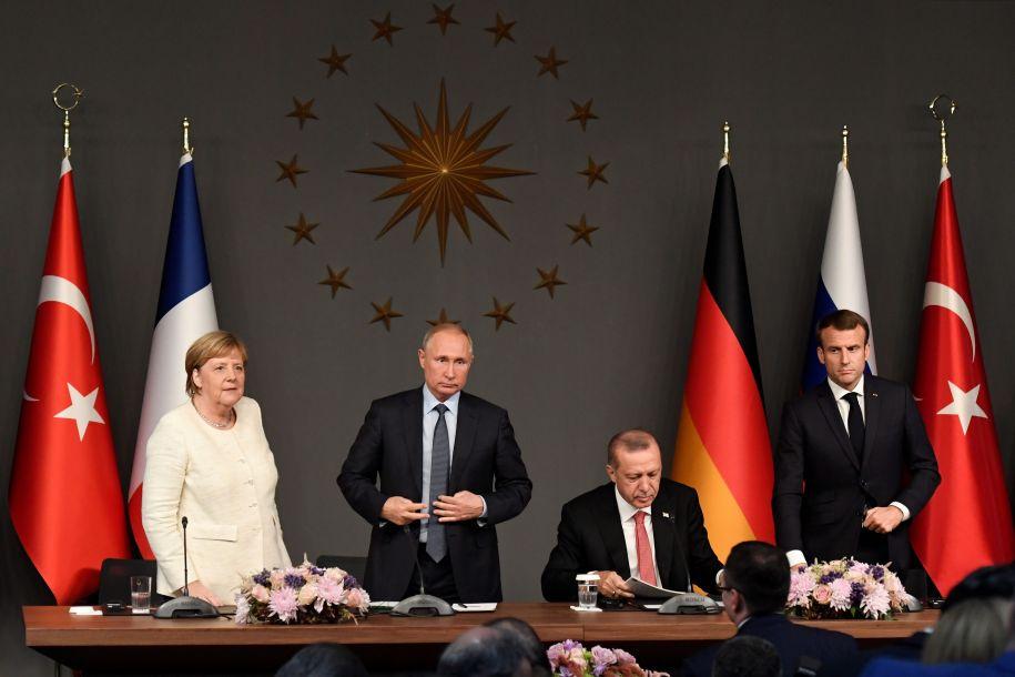 俄土德法四国领导人举行峰会 讨论叙利亚局势问题