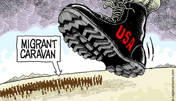 非法移民北上,特朗普如临大敌