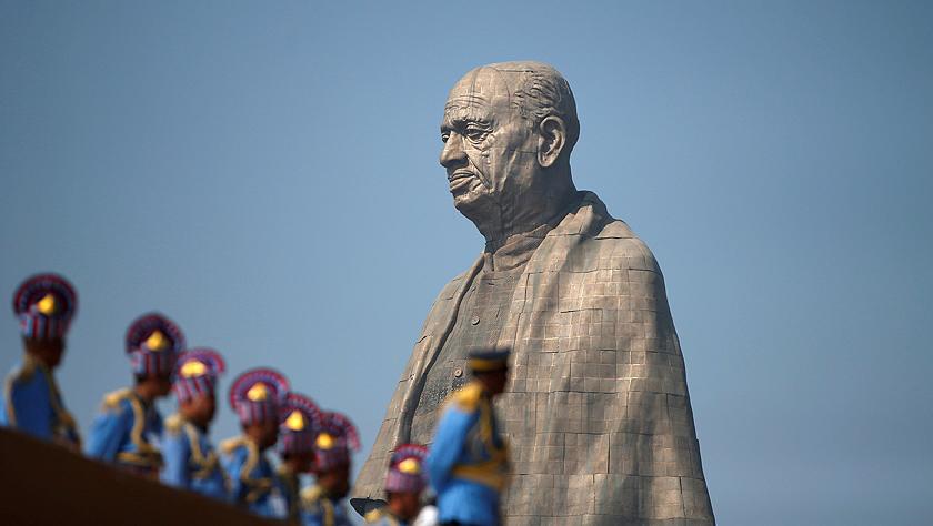 世界最高塑像在印度落成 莫迪為塑像揭幕