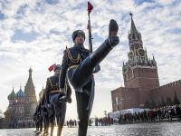 俄罗斯都城莫斯科举行红场阅兵