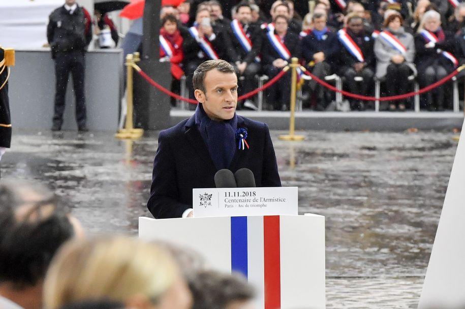 法国隆重纪念一战结束百年