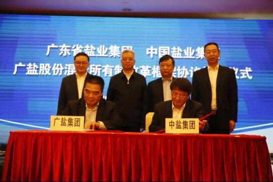 携手合作落实盐改 中盐集团与广盐集团签署混改框架协议