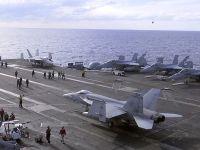 一架美军航母舰载机在冲绳附近海域坠毁