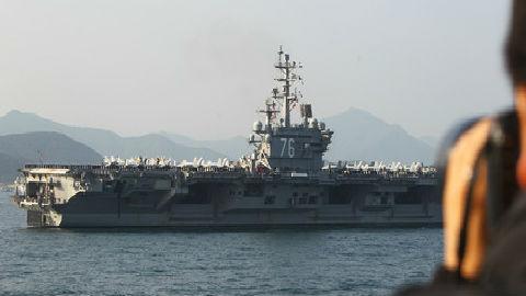 """海外媒体:美国""""里根""""号航母编队获准停靠香港"""