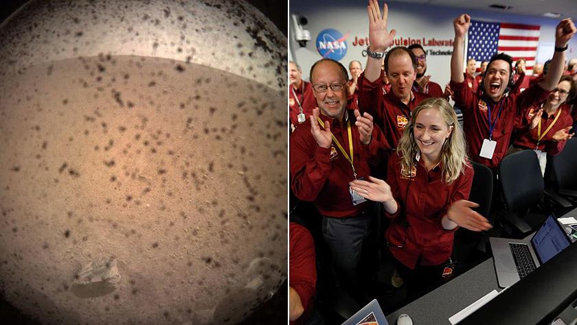 """""""洞察""""号无人探测器成功登陆火星 传回了第一张照片"""