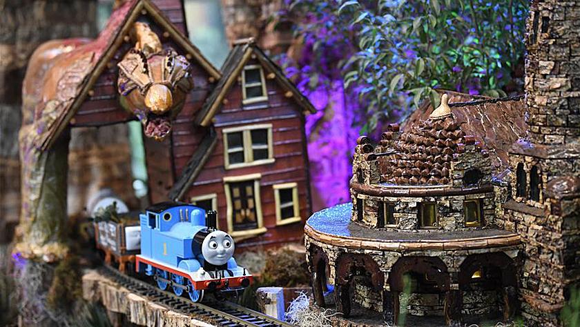 华盛顿举行迷你火车展览