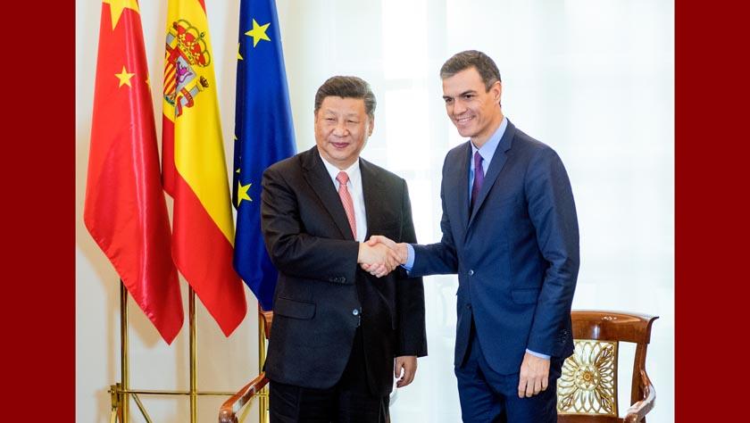习近平同西班牙首相桑切斯举行会谈