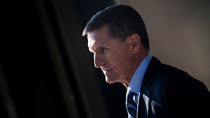 """美国""""通俄""""调查团队建议""""从轻发落""""弗林"""