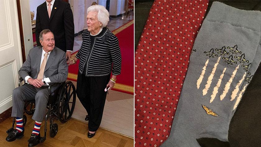 """""""长袜先生""""老布什的有趣收藏:这款袜子陪伴他进入安息之地"""