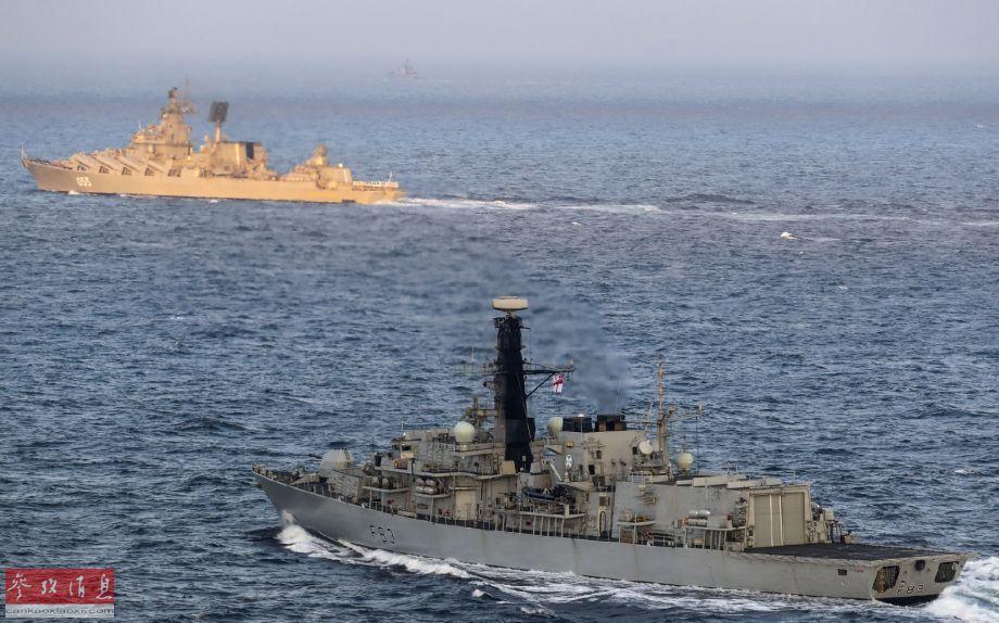 抵近阻拦!英战舰监督俄舰过英吉祥海峡