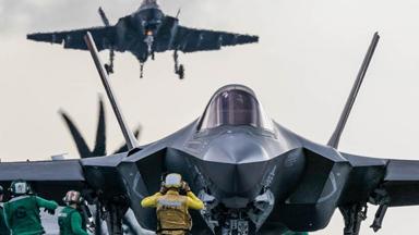 即将部署!美首支F35C隐身战机中队上舰