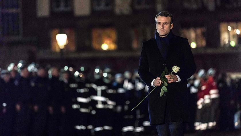 马克龙悼念斯特拉斯堡枪击案遇难者