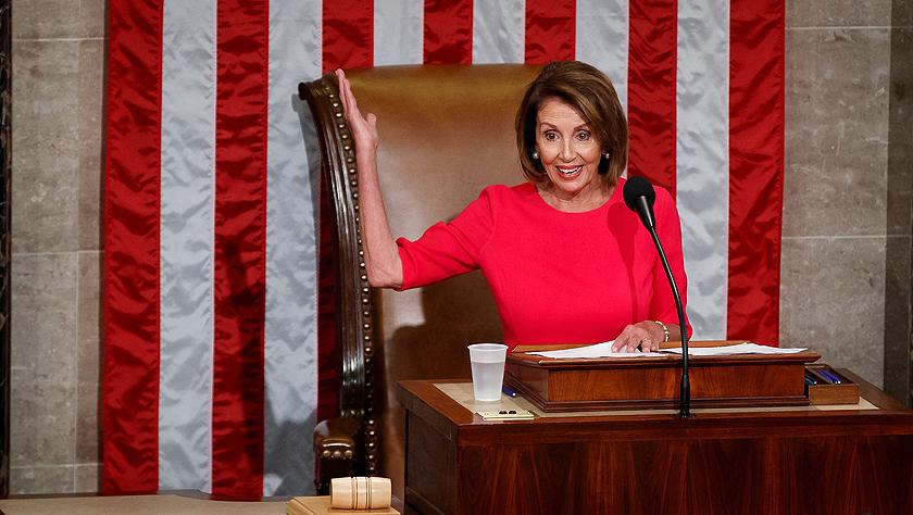 美国新一届国会开幕 佩洛西当选众议院议长