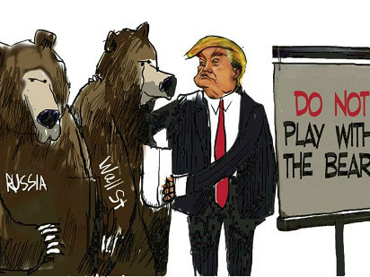 """特朗普与两只危险的""""熊"""""""