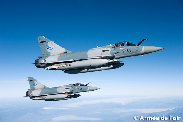 """资料图片:法国空军""""幻影""""2000战机。"""