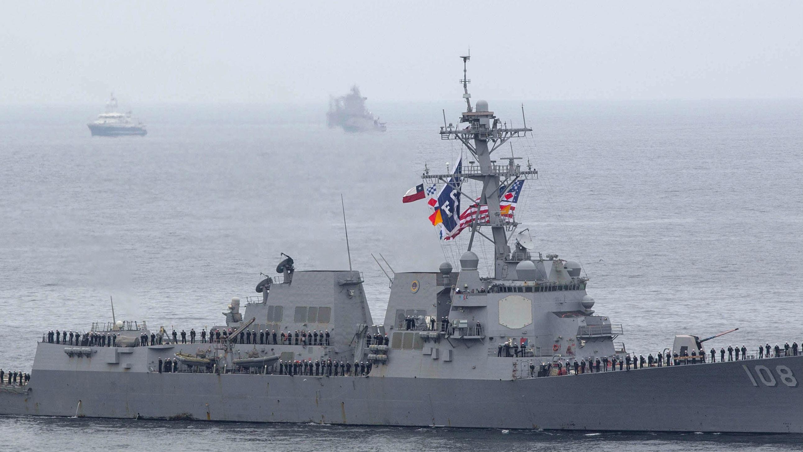 """双舰编队缉毒抓偷渡 美新型濒海战斗群将为海军""""打杂"""""""