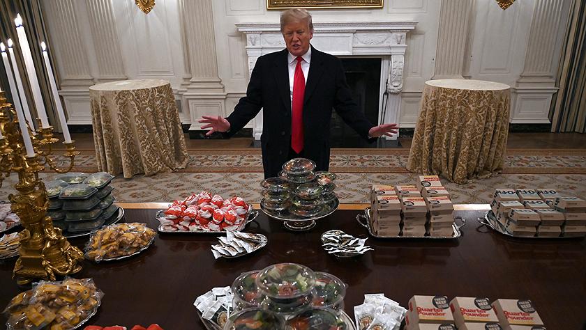 """美政府""""停摆""""以后:白宫厨师告假离岗 国宴厅只能吃快餐"""