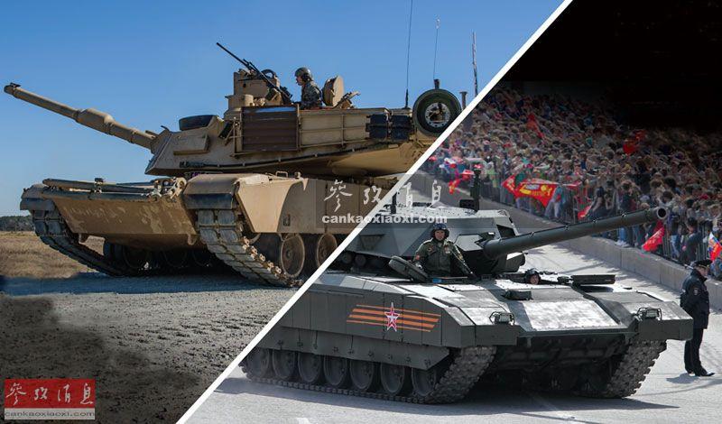 """近日,有外国军媒制作了一组美俄两国主力坦克射击对比视频,视频中专门画出一条红线来作为""""射击稳定基准线"""",来对比美军M1A2""""艾布拉姆斯""""和俄军T-14""""阿玛塔""""两种坦克在开火射击时,主炮身管的晃动幅度,结果美军M1A2略胜一筹,其主炮稳定装置的后坐抑制效果更为先进,而其直接影响到坦克的命中精度。美军M1A2与俄军T-14分别代表两国的主力坦克技术水平。14"""