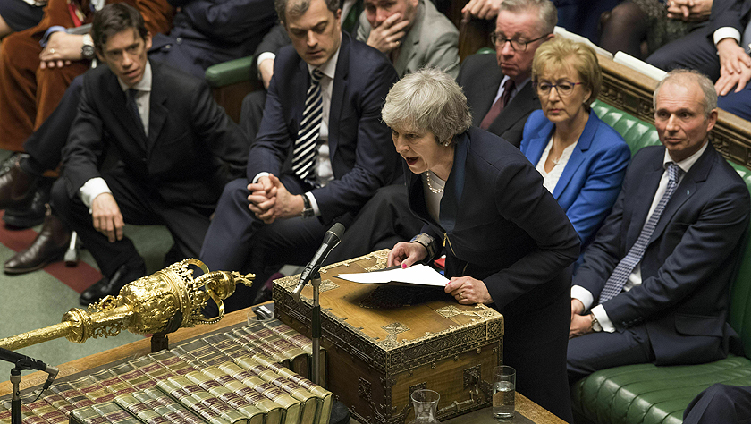 """英国议会下院超一倍票数否决""""脱欧""""协议"""