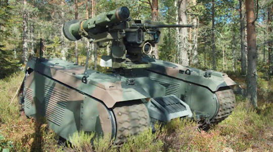 未来战争!无人战车可自备无人机打坦克