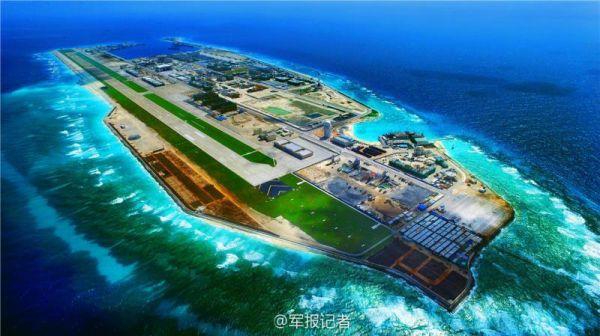 官宣首发:永暑岛高清全景图!大型机场港湾一应俱全