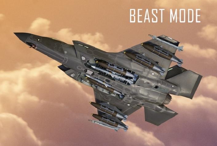 """""""兽化""""F-35:瞬灭5个目标 卡车被炸飞"""