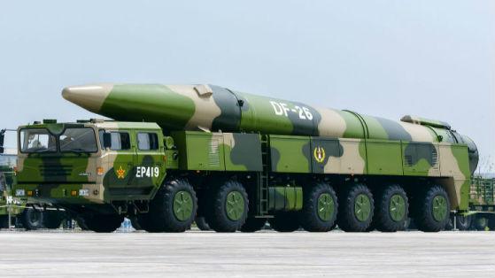 新媒:东风-26导弹媒体亮相