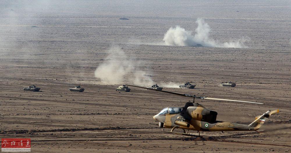 歼-7亮相!伊朗举行大规模军演向美示威