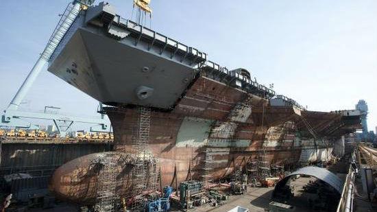 """美海军签订""""双美高梅国际娱乐官网""""建造合同 比单购省40亿美元"""