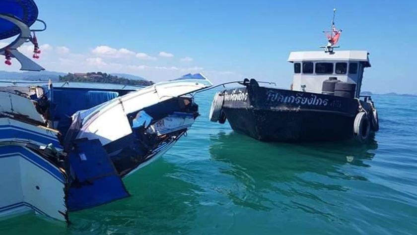 泰国普吉海域发生快艇撞船事故致11名中国游客受伤