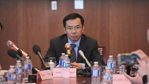 """中国驻加拿大大使卢沙野发表署名文章批驳""""中国崩溃论"""""""