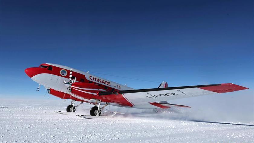 中国固定翼飞机完成东南极冰盖关键区域航空探测